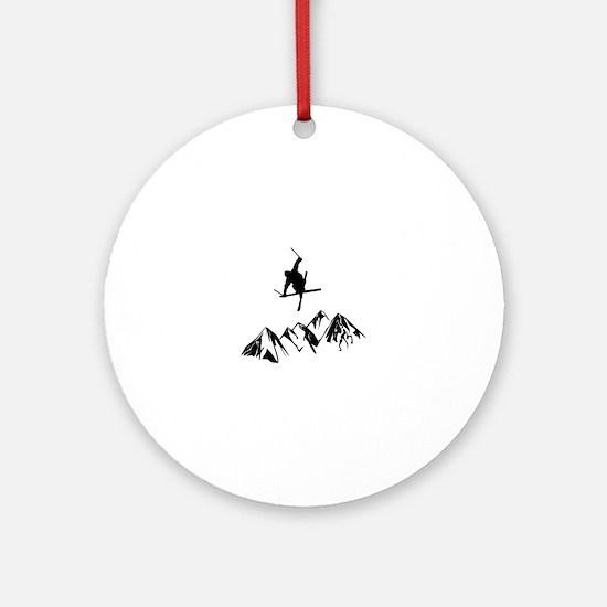 Cute Ski Round Ornament