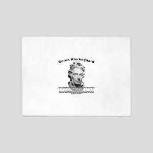 Kierkegaard Prayer 5'x7'Area Rug