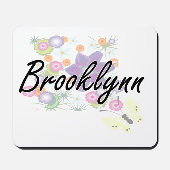 Brooklynn Artistic Name Design with Flow Mousepad