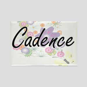 Cadence Artistic Name Design with Flowers Magnets