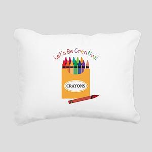 Lets Be Creative Rectangular Canvas Pillow