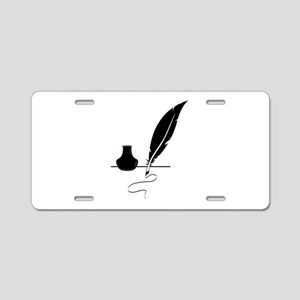 Quill Pen Aluminum License Plate