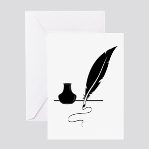 Quill Pen Greeting Cards