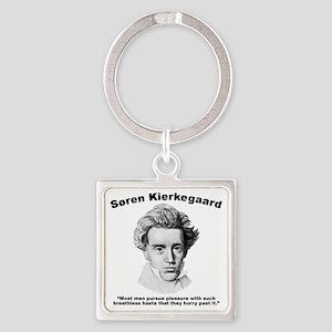 Kierkegaard Pleasure Square Keychain