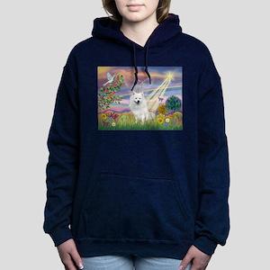Cloud Angel / Eskimo Women's Hooded Sweatshirt