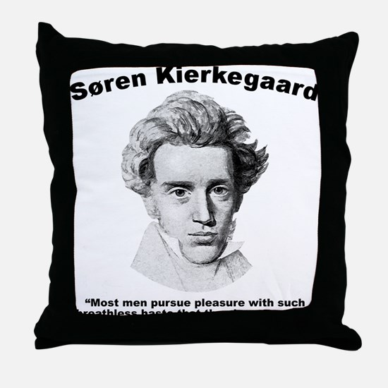 Kierkegaard Pleasure Throw Pillow