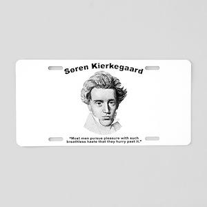 Kierkegaard Pleasure Aluminum License Plate