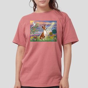Cloud Angel & Basenji Womens Comfort Colors Shirt