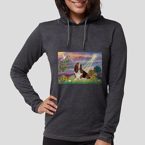 Cloud Angel & Basset Womens Hooded Shirt