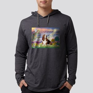 Cloud Angel & Basset Mens Hooded Shirt