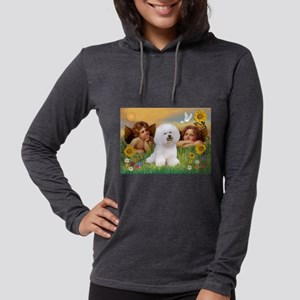 Angels & Bichon Frise Womens Hooded Shirt
