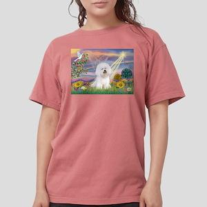 Cloud Angel & Bichon Womens Comfort Colors Shirt