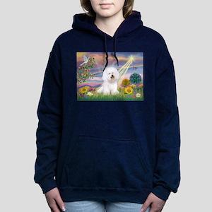 Cloud Angel & Bichon Women's Hooded Sweatshirt
