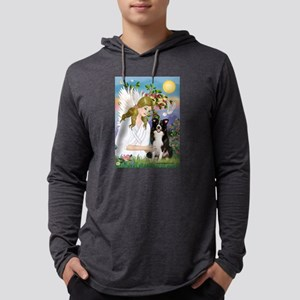 Angel Love / Border Collie Mens Hooded Shirt