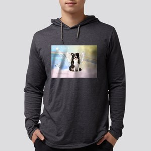 Border Collie Angel Mens Hooded Shirt