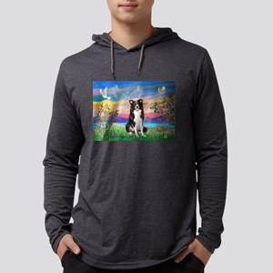 Guardian (#2) / Border Collie Mens Hooded Shirt