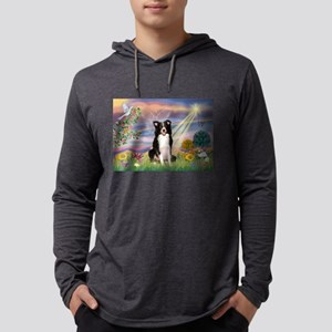 Cloud Angel /Border Collie Mens Hooded Shirt