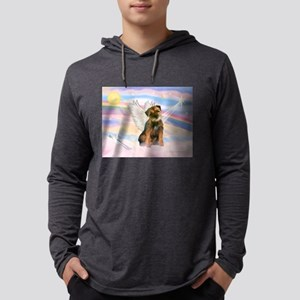 Angel / Border Terrier Mens Hooded Shirt