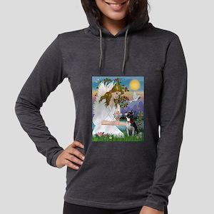 Angel Love / Boston Terrier 3 Womens Hooded Shirt