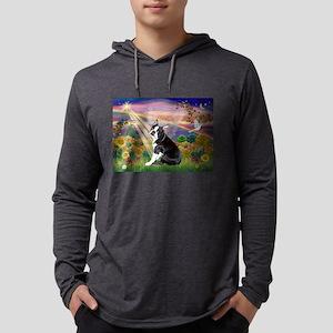 Autumn Angel & Boston Mens Hooded Shirt