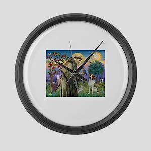 St Francis / American Brittan Large Wall Clock