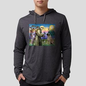 Saint Francis / Bullmastiff Mens Hooded Shirt