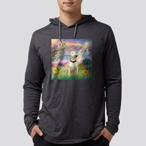 Cloud Angel /Bull Terrier Mens Hooded Shirt