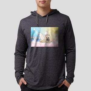 Angel / Cairn Terrier Mens Hooded Shirt