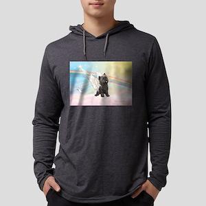 Angel / Cairn Terrier (brin) Mens Hooded Shirt