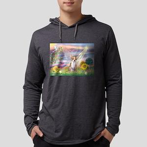 Cloud Angel / Chihuahua (f) Mens Hooded Shirt