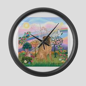 Cloud Angel 2 / Shar Pei (3) Large Wall Clock