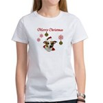 Jack Russell Christmas Greetings Women's T-Shirt