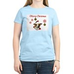 Jack Russell Christmas Greetings Women's Light T-S