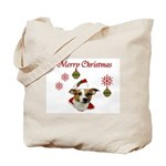 Jack Russell Christmas Greetings Tote Bag