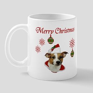 Jack Russell Christmas Greetings Mug