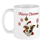 Jack Russell Christmas Greetings Mug