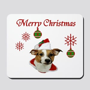 Jack Russell Christmas Greetings Mousepad