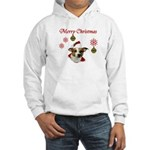 Jack Russell Christmas Greetings Hooded Sweatshirt