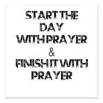 "Daily Prayers Square Car Magnet 3"" X 3"""