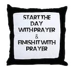 Daily Prayers Throw Pillow