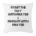 Daily Prayers Woven Throw Pillow