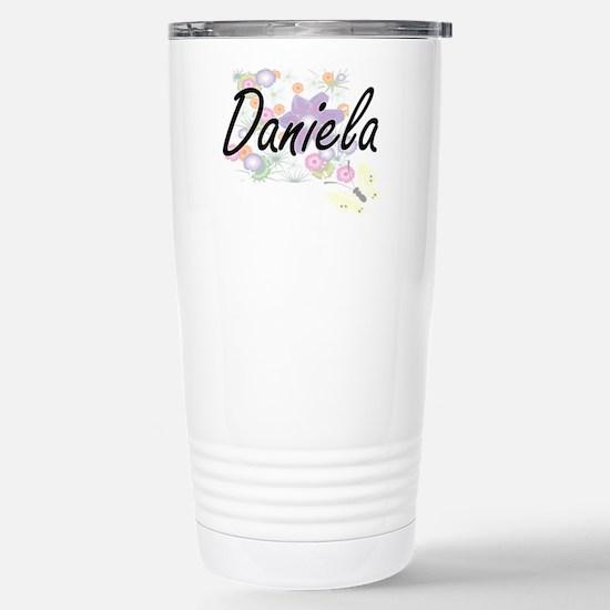 Daniela Artistic Name D Stainless Steel Travel Mug
