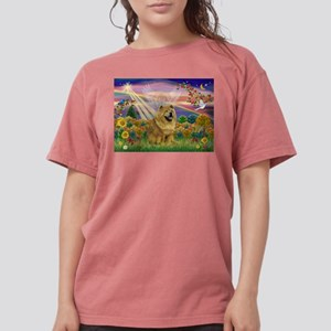Autumn Angel & Chow Womens Comfort Colors Shirt
