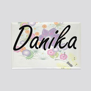 Danika Artistic Name Design with Flowers Magnets