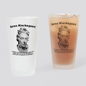 Kierkegaard Philosophy Drinking Glass