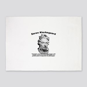 Kierkegaard Philosophy 5'x7'Area Rug