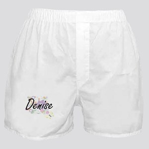 Denise Artistic Name Design with Flow Boxer Shorts