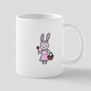 Bunny With Flowers Mugs