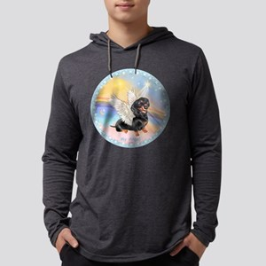 Clouds/Dachshund Angel Mens Hooded Shirt