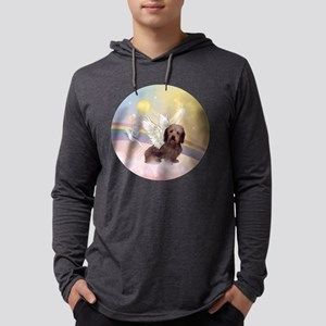 Wire Haired Doxie Mens Hooded Shirt